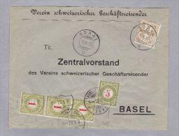 Heimat GE SORAL 1902-10-04 Taxierte Drucksache Nach Basel 2 Rp W2 + 8 Rp Porto - Taxe