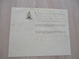 Connaissement 1849 En Italien PERMINANVA Ste Virginy Frapani. Cne Genoveche Livorno Limono Sott Oléo Huile? - Italie