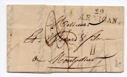 1827 - LETTRE De LE VIGAN (GARD) - 1801-1848: Precursores XIX