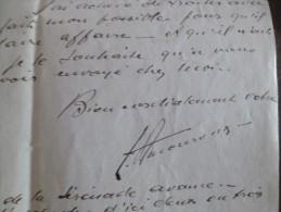 Lettre à En Tête Et LAS Autographe De Léon Amouroux  Editeur. Paris 192? - Autographes