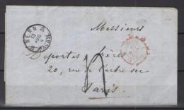 LETTRE BERNE POUR PARIS 15/08/1858 - Lettres & Documents