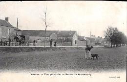 CARTE POSTALE ORIGINALE ANCIENNE : VOSVES ; ROUTE DE PONTHIERRY ; ATTELAGE CHEVAL ; ANIMEE ; EURE ET LOIR (28) - Autres Communes