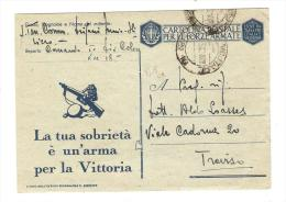 POSTA MILITARE.CARTOLINA POSTALE PER LE FORZE ARMATE.POSTA MILIATRE N.18..2485 - 1900-44 Victor Emmanuel III