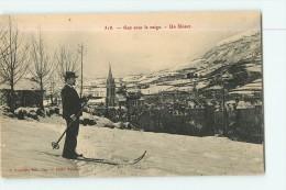 GAP - Sous La Neige Avec Un Skieur -  TBE  - 2 Scans - Gap