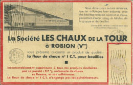 2 Eme 84 ROBION VAUCLUSE CHAUX DE LA TOUR  BUVARD MINES - Farm