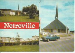 229141 - NETREVILLE ( 3 VUES ) JEUNE CITE - LE CENTRE COMMERCIAL - L´EGLISE - France