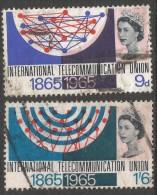 Great Britain. 1965 ITU Centenary. Used Complete Set SG 683-684 - 1952-.... (Elizabeth II)