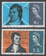 Great Britain. 1966 Burns Commemoration. Used Complete Set SG 685-686 - 1952-.... (Elizabeth II)