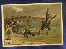 Chromo Bataille Alkmaër 6 Oct 1799 General Brune Duc D'York Old Trade Card 1890 - Chromo