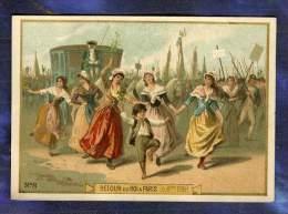 Chromo Retour Roi Louis XVI Paris 6 Oct 1789 Danse Femmes Old Trade Card 1890 - Non Classés
