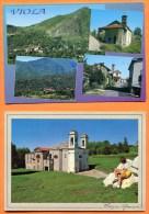 2 X CP - VIOLA (CUNEO) - Santuario Madonna Della Neve. Panorama Di Viola. Italia - Cuneo