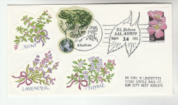 1993 ST JOHNS Mi USA  EVENT COVER Stamps FROG Label Flowers Flowers - Reptiles & Amphibians