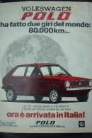 # ADVERTISING PUBBLICITA' VOLKSWAGEN POLO ORA IN ITALIA  -- 1976  -  OTTIMO - Werbung