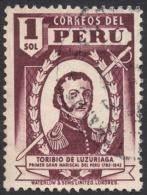 Peru, 1 S., 1949, Scott # 430, Used. - Peru