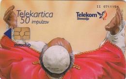 SLOVENIA SLOVENIJA   PHONECARD 1999 PAPEŽ POPE ANTON SLOMŠEK BEATIFIKACIJA BEATIFICATION    RELIGION - Slovenia