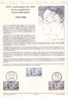 (2697-1988) Document Officiel De La Poste Traité Coopération Franco Allemand De Gaulle Adenauer  (N° 01-88) - Documentos Del Correo