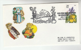 1993 Holton Mi USA COUNTRY LIVING SWEETCORN Corn EVENT COVER Stamps Food Flower Farming Agriculture - Vegetables