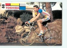 Fabrice PHILIPOT . 2 Scans. Cyclisme. Toshiba 1988 - Cycling
