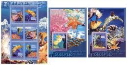GUINEA 2008 - Underwater Fauna, M/S + 2 S/S - Mi 5477-82 + B1505-6, YT 3471-6 + BF860-1 - Schelpen