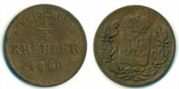 1860 Schwarzburg Rudolstadt 1/4 Kreuzer Coin - Small Coins & Other Subdivisions