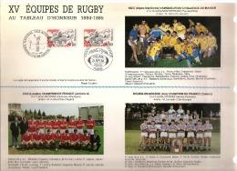CEF   Série Spéciale  XV équipes De Rugby De 1984 - 1985   Tirage Limité  N° 1695 Sur 2000   Parfait état  ( 4 Scans ) - 1980-1989