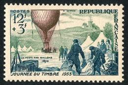 FRANCE 1955 - Yv. 1018 **   Cote= 6,00 EUR - Journée Du Timbre. Ballon-poste ..Réf.FRA28324 - Neufs