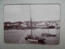 PHOTO DE DOUARNENEZ ( 29 BRETAGNE ) Vue Du Port Bateau De Pêche  1898/1902 - Lieux
