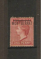 MONTSERRAT 1876 1d SG 1 MOUNTED MINT WATERMARK CROWN CC PERF 14 Cat £29 - Montserrat