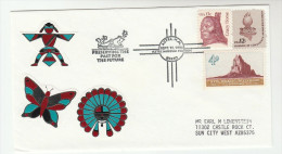 1993 AZTEC New Mexico PRESERVING THE PAST Native AMERICAN INDIAN EVENT COVER  USA Stamps  Butterfly Emblem Insect - American Indians