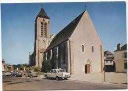 CPM - CORBEIL ESSONNES - EGLISE ST ETIENNE D'ESSONNES (voitures) - Edition Combier - Corbeil Essonnes