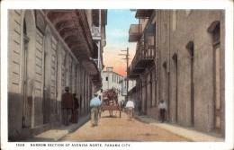 NARROW SECTION OF AVENIDA NORTE, PANAMA CITY ~ ANIMATED - Panama