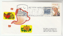1993 NUT TREE California PUMPKIN  EVENT COVER USA  Stamps Food - Vegetables