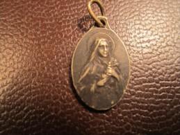Médaille Religieuse Pendentif ROSARUM (Vierge ?) Argent - Religione & Esoterismo