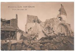 CPA MONTDIDIER SOMME EGLISE SAINT SEPULCRE APRES GUERRE 1914 18 PHOTO GALLAND 1922 - Montdidier