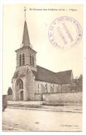 Aube - 10 - St Saint Parres Les Vaudes L'église Cachet Militaire  Service Gvc Section Des Eaux Marcophilie - Andere Gemeenten