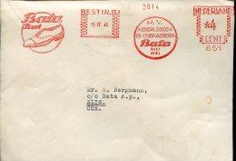 2111 Nederland, Red Meter Ema Freistempel, 1948 Best,  Bata Best Leder Fabrieken,, Circuled, Shoes,  Chaussures - Machine Stamps (ATM)