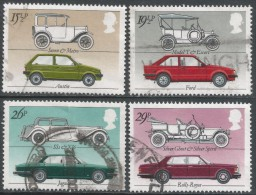 Great Britain. 1982 British Motor Cars. Used Complete Set. SG 1198-1201 - Used Stamps