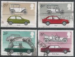 Great Britain. 1982 British Motor Cars. Used Complete Set. SG 1198-1201 - 1952-.... (Elizabeth II)