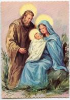 JOYEUX NOËL - La Sainte Famille - Joseph Protecteur De La Vierge Marie Et L´enfant Jésus - Non écrite - 2 Scans - Noël