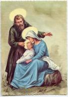 JOYEUX NOËL - La Sainte Famille - Joseph Et La Vierge Marie Tenant L´enfant Jésus Dans Ses Bras - Non écrite - 2 Scans - Noël