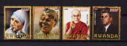 Ruanda, Rwanda, 2009, Mother Theresa, John F. Kennedy, Dalai Lama, Nelson Mandela - Rwanda