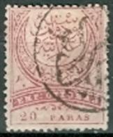 Türkei 1884 20 Para + 1 Piaster Gest. Halbmond - Usados