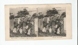 PRES D'ARRAS LES ZOUAVES  A L'AFFUT DES BOCHES . LA GRANDE GUERRE . (CARTE STEREOSCOPIQUE) - Weltkrieg 1914-18
