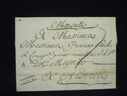 Marseille à Nimes 1774 - Marcophilie (Lettres)