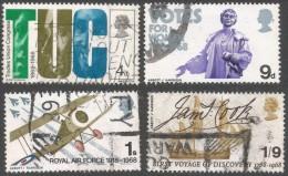 Great Britain. 1968 British Anniversaries. Used Complete Set. SG 767-770 - 1952-.... (Elizabeth II)