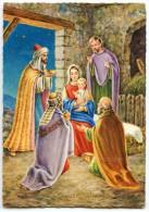 JOYEUX NOËL - Les Rois Mages Offrent Des Présents à Jésus, Joseph Et La Vierge Marie - Non écrite - 2 Scans - Noël