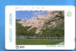 Japan Japon Telefonkarte Télécarte Phonecard -  NTT Nr. 330 -174 Nissay Union - Publicité