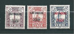 Timbres De Lattaquié   N°20 A 22  Neuf * - Lattaquié (1931-1933)