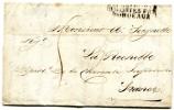 """Lettre De L'ile Maurice Du 5/9/1807 Pour La Rochelle Taxe à 5 D.griffe""""Colonies Par/Bordeaux"""" - Marcophilie (Lettres)"""
