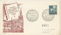EESPAÑA CONMEMORATIVO. 1953 - CARTA CONMEMORATIVA EMITIDA PARA LA CONMEMORACION DE LA FERIA DEL LIBRO - 1931-Today: 2nd Rep - ... Juan Carlos I